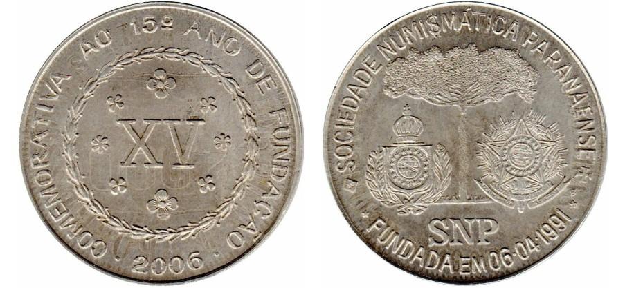 Prata - recunhadas sobre 2.000 réis 1906-1912